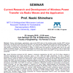 Prof. Naoki Shinohara's Seminar on Wireless Power Transfer