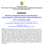 Photonic Integrated Devices and Systems: Technology for next Generation Telecom Networks